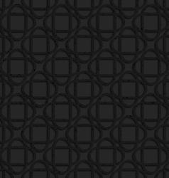 Black textured plastic crossing ovals vector