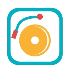 blue and yellow dj turntable graphic vector image