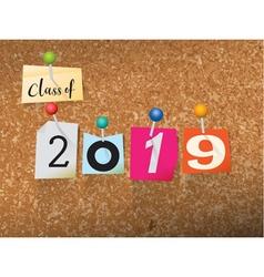 Class of 2019 concept vector
