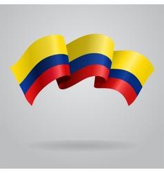Colombian waving flag vector