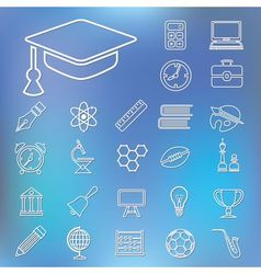 education outline icons vector image
