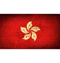 Flags Hong Kong with dirty paper texture vector image