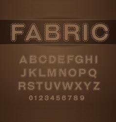 Font fabric vector