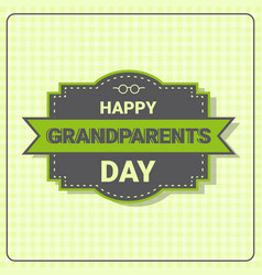 Happy grandparents day greeting card banner vector