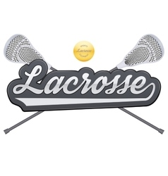 Lacrosse tag with ball and sticks vector