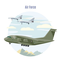 military aviation concept vector image vector image