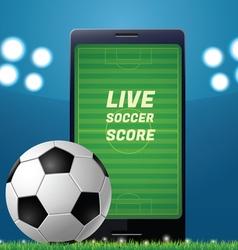 Mobile football vector