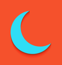 Moon sign whitish icon on vector