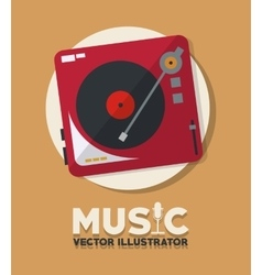 Music and vinyl design vector