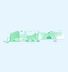 panorama flat stylish city vector image