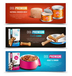 Puppy chow horizontal banners vector