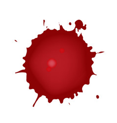 realistic blood splatters red ink splatters vector image
