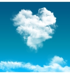 Realistic blue sky with cloud composition vector