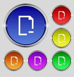 Remove folder icon sign round symbol on bright vector