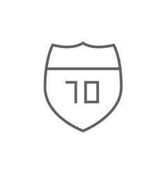 Route road sign line icon vector
