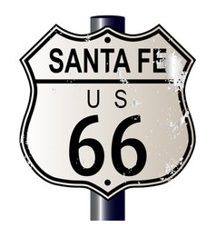 Santa fe route 66 highway sign vector
