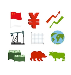Set of business graphics Set inografika Chinese vector image vector image