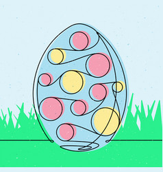 Spotted easter egg 2 continuous line vector