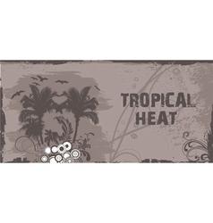 summer grunge floral background vector image