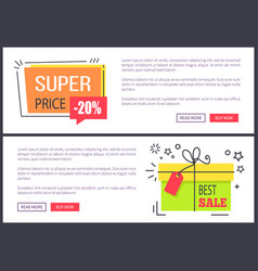 super price best sale posters vector image vector image