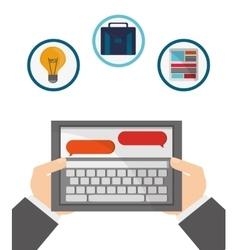 Technology and gadget design vector