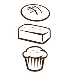 Baked goods vector