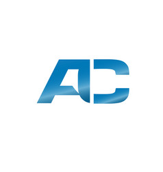 elegant letter ac a c a and c logo concept vector image