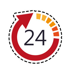 open 24 7 icon image vector image