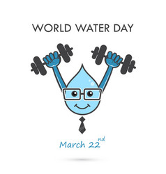 world water day cartoon designwater cartoon vector image