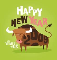 bull 2009 vector image