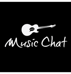 Music chat concept design template vector