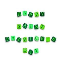 Words happy saint patricks day vector