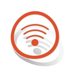 Wi-fi sign sticker orange vector