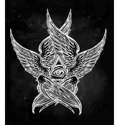 All seeing winged Eye of Providence vector image