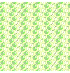 Seamless fruit pattern with apples vector