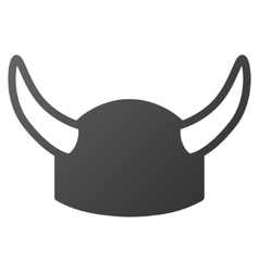 Horned helmet gradient icon vector
