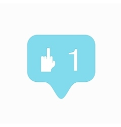 Modern middle finger up icon isolated on vector