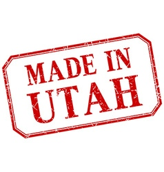 Utah - made in red vintage isolated label vector