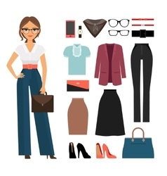 Business woman clothing vector