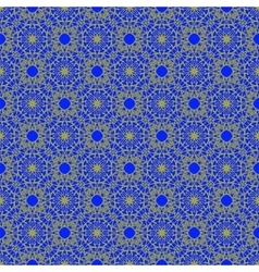 Seamless texture on blue ornamental backdrop vector