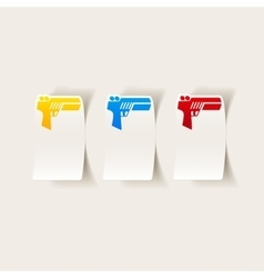 Realistic design element gun game vector