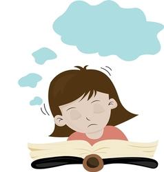 A girl is sleep vector image vector image