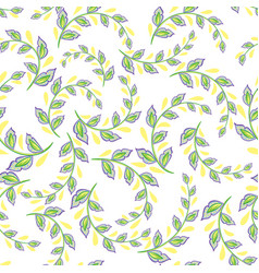 a repeating pattern of small leaves prints for vector image vector image