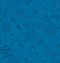 Abstract seamless background of different soccer vector image vector image