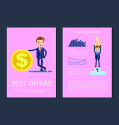 best offers and business award vector image vector image