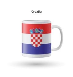 Croatia flag souvenir mug on white background vector