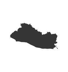 el salvador map vector image vector image