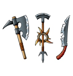 Fantasy weapons vector image vector image
