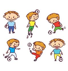 footballer soccer player vector image