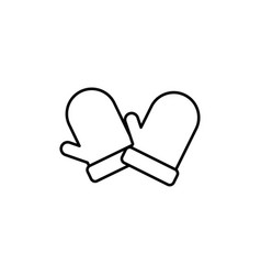 gloves icon vector image
